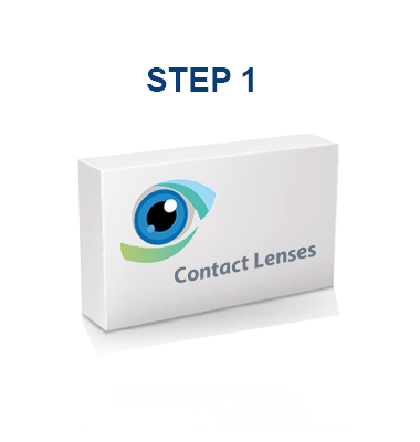 Search and select your brand of contact lenses.